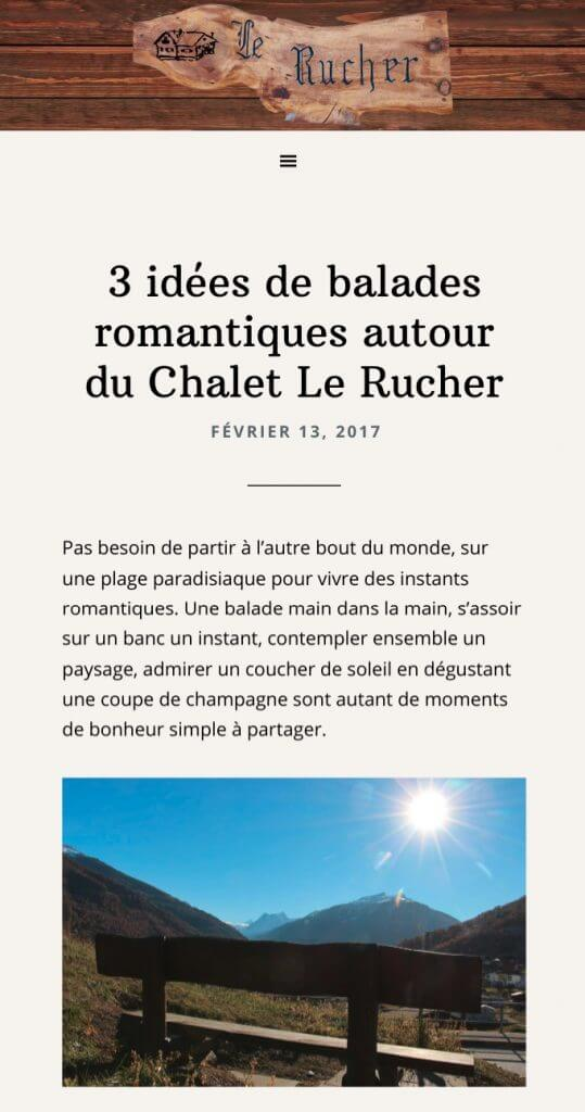 mobile chalet le rucher