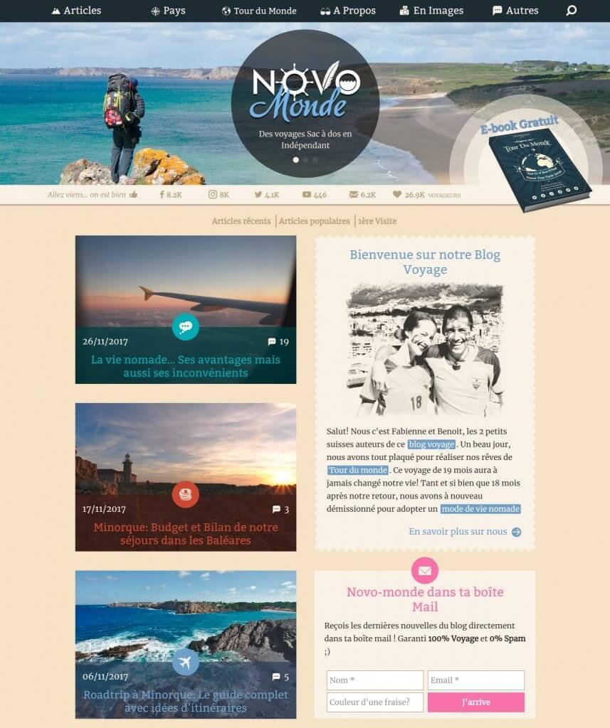 novomonde home page