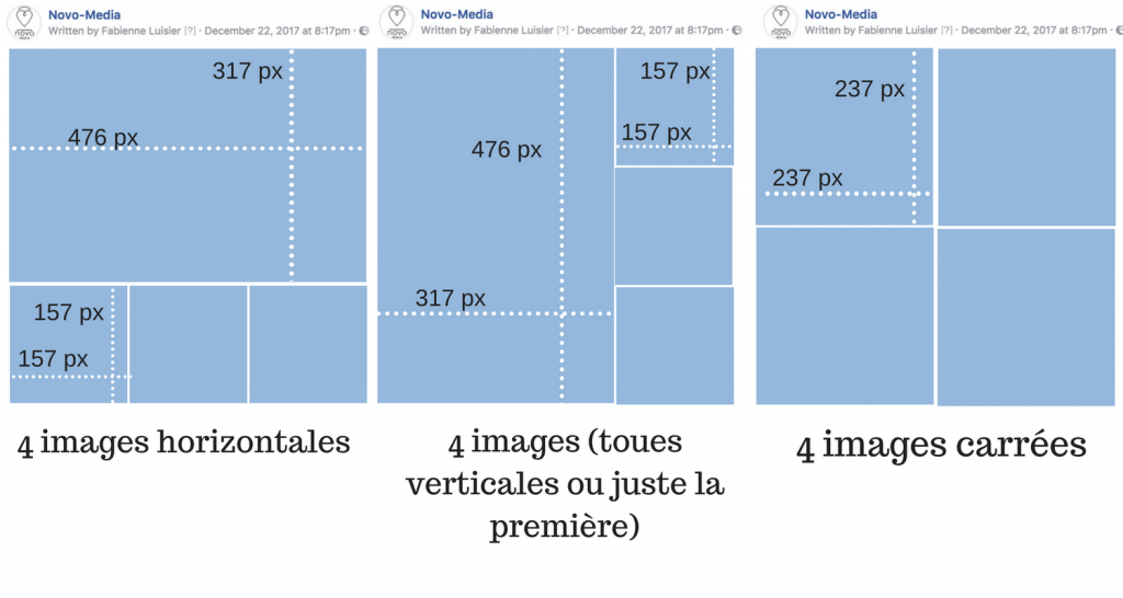 4 images facebook taille