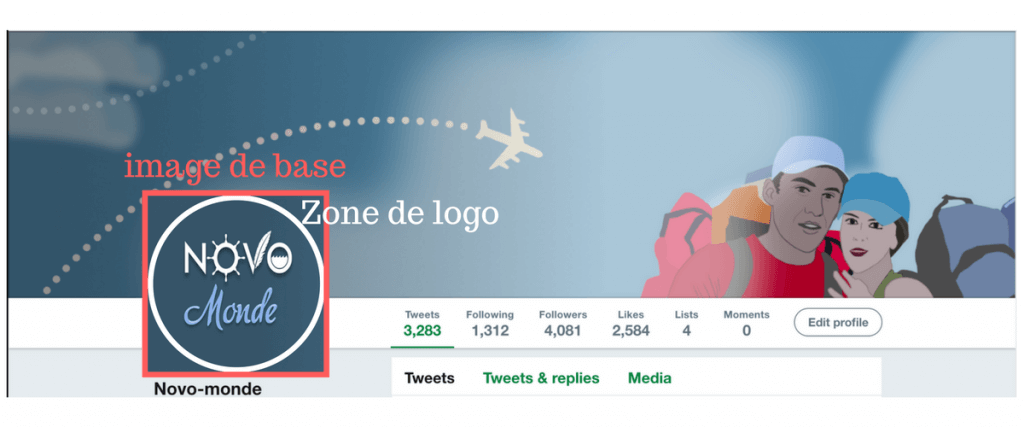 twitter taille couverture et logo