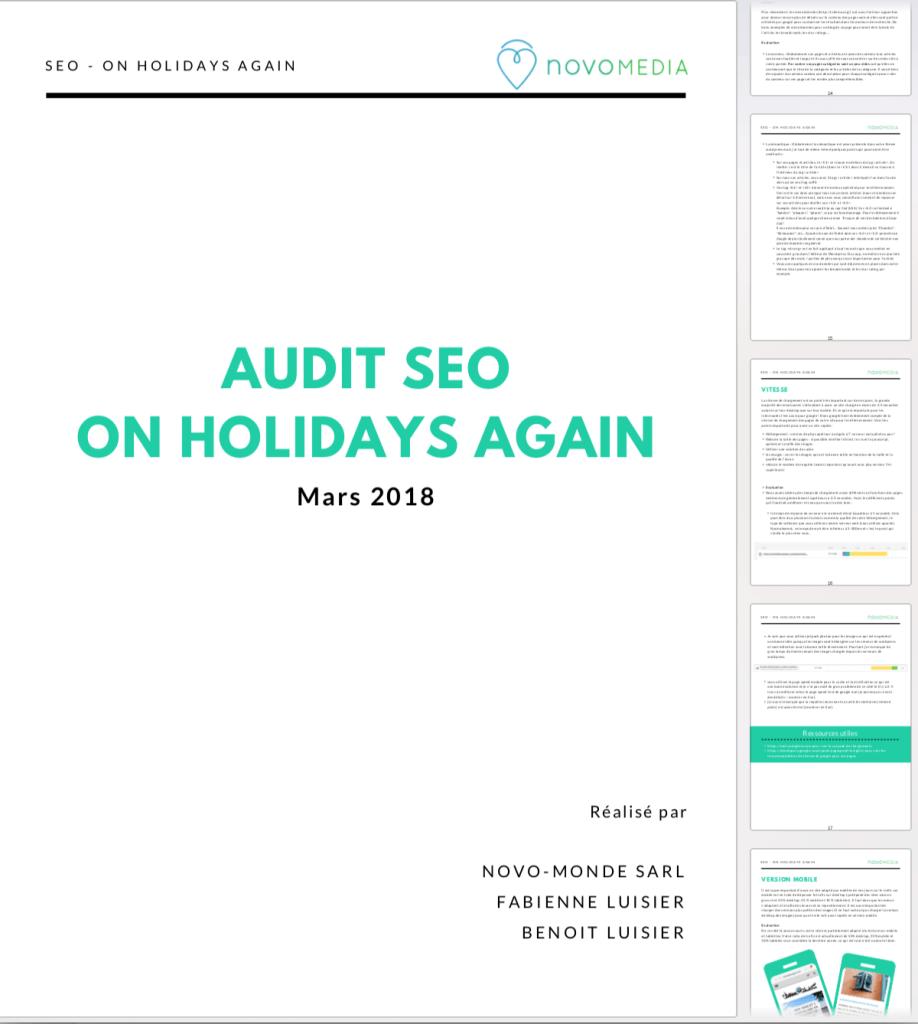 audit seo rapport