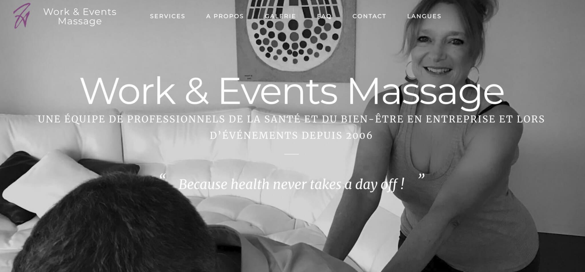 work and event massage home