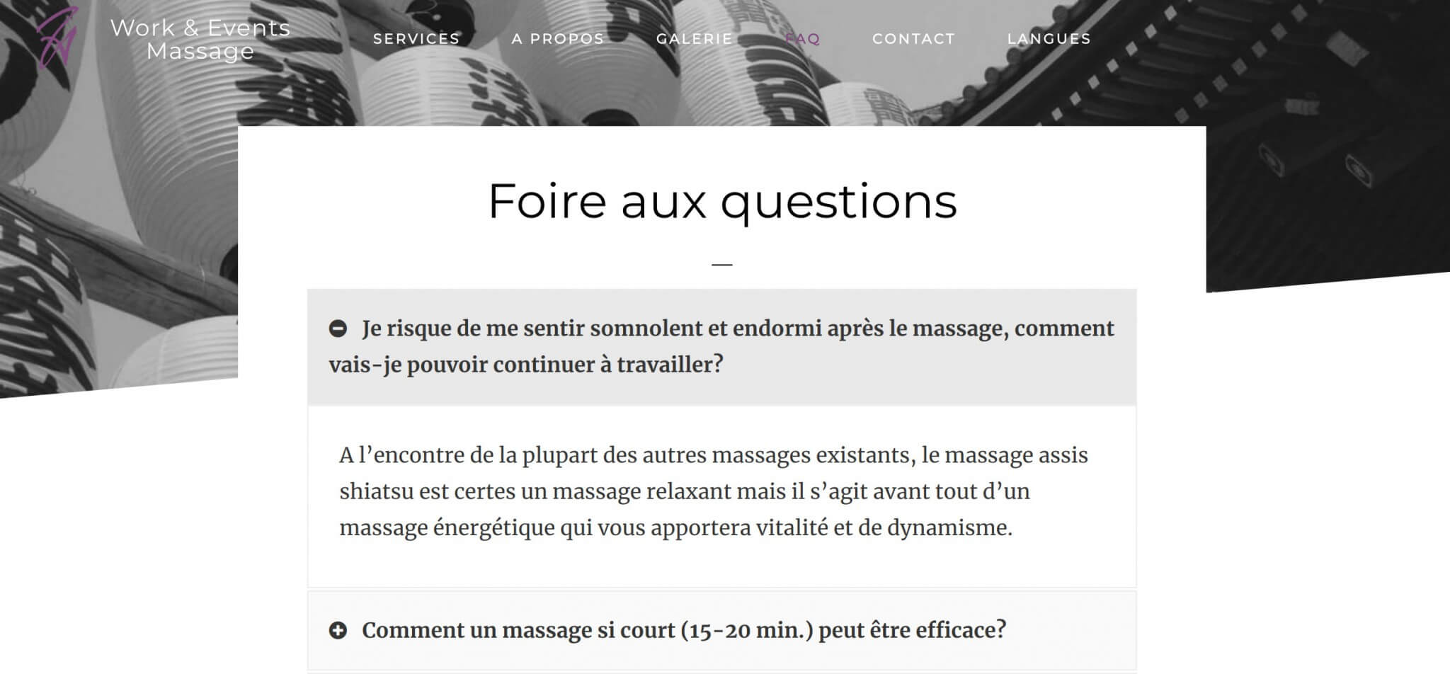 faq work and event massage