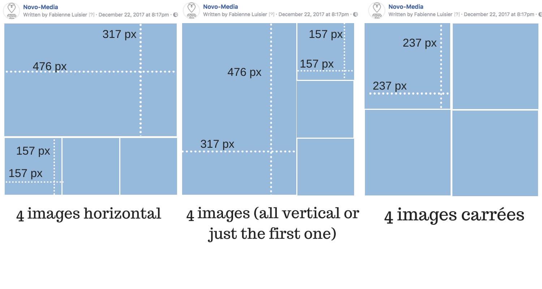 4 photos facebook album layout