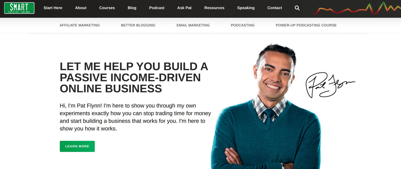 page d'accueil de Smart passive income