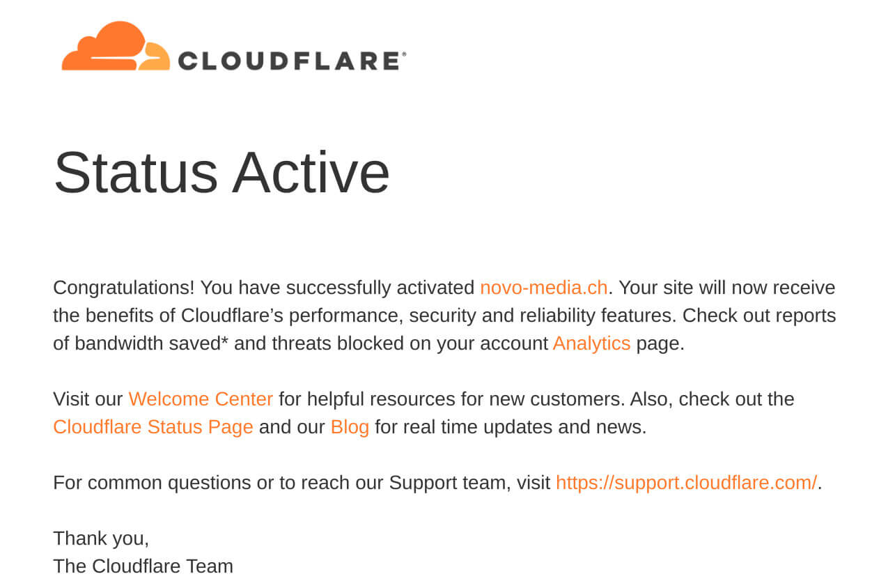 Cloudflare active email