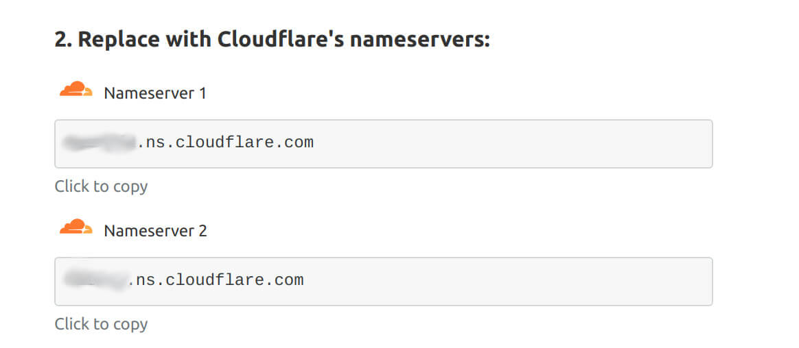 nameserver cloudflare