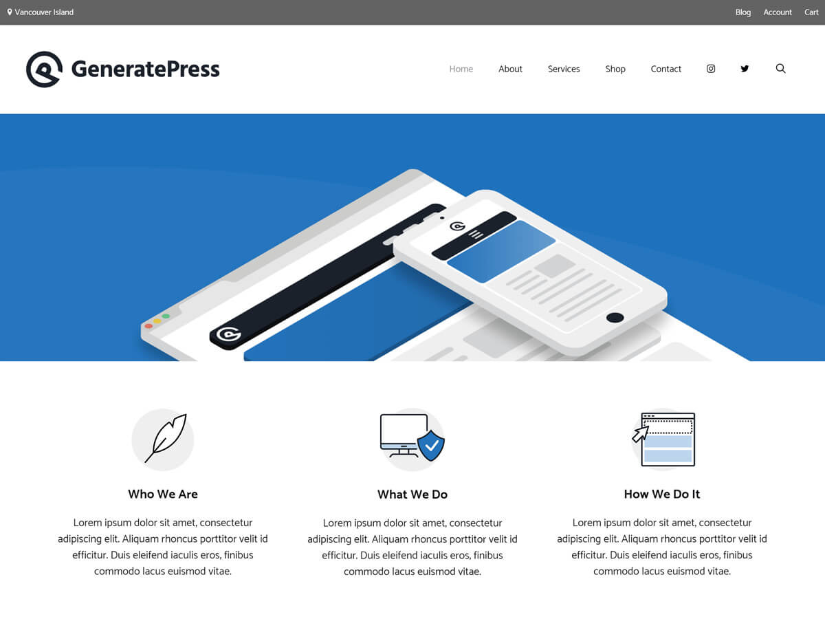 generatepress wp theme