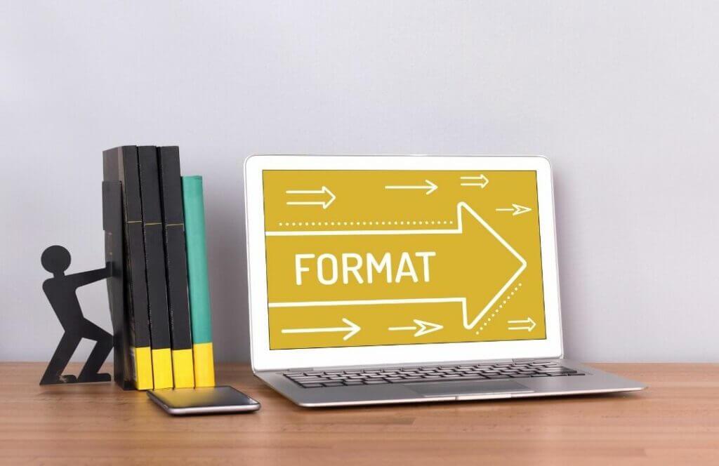 format d'ebook