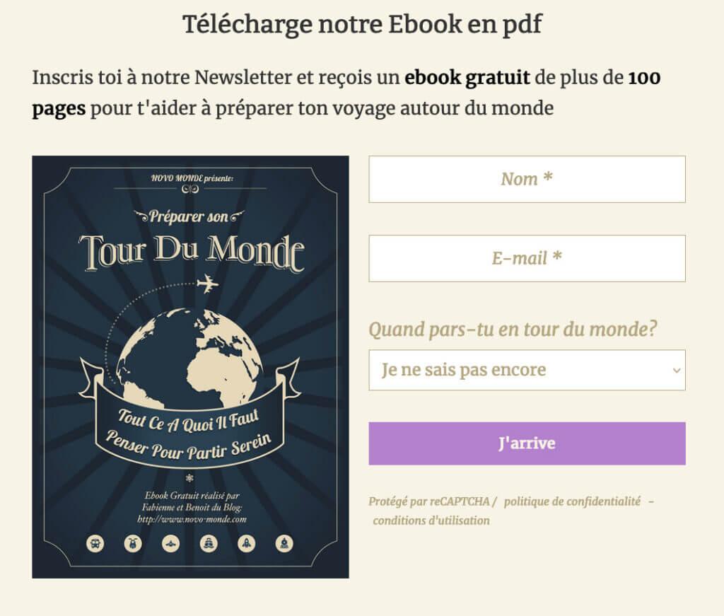 formulaire téléchargement ebook