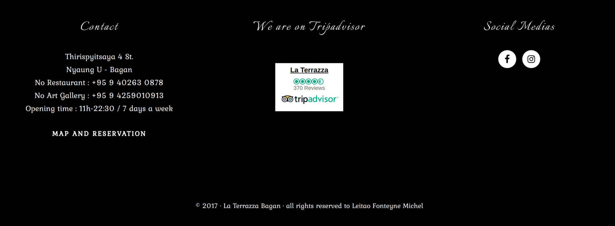 Terrazza Bagan Pwebsite Development Project By Novo Media