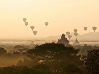 lever de soleil à Bagan 2